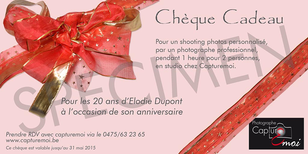 cheque cadeau studio photo professionnel wavre shooting photo capturemoi jean claude. Black Bedroom Furniture Sets. Home Design Ideas